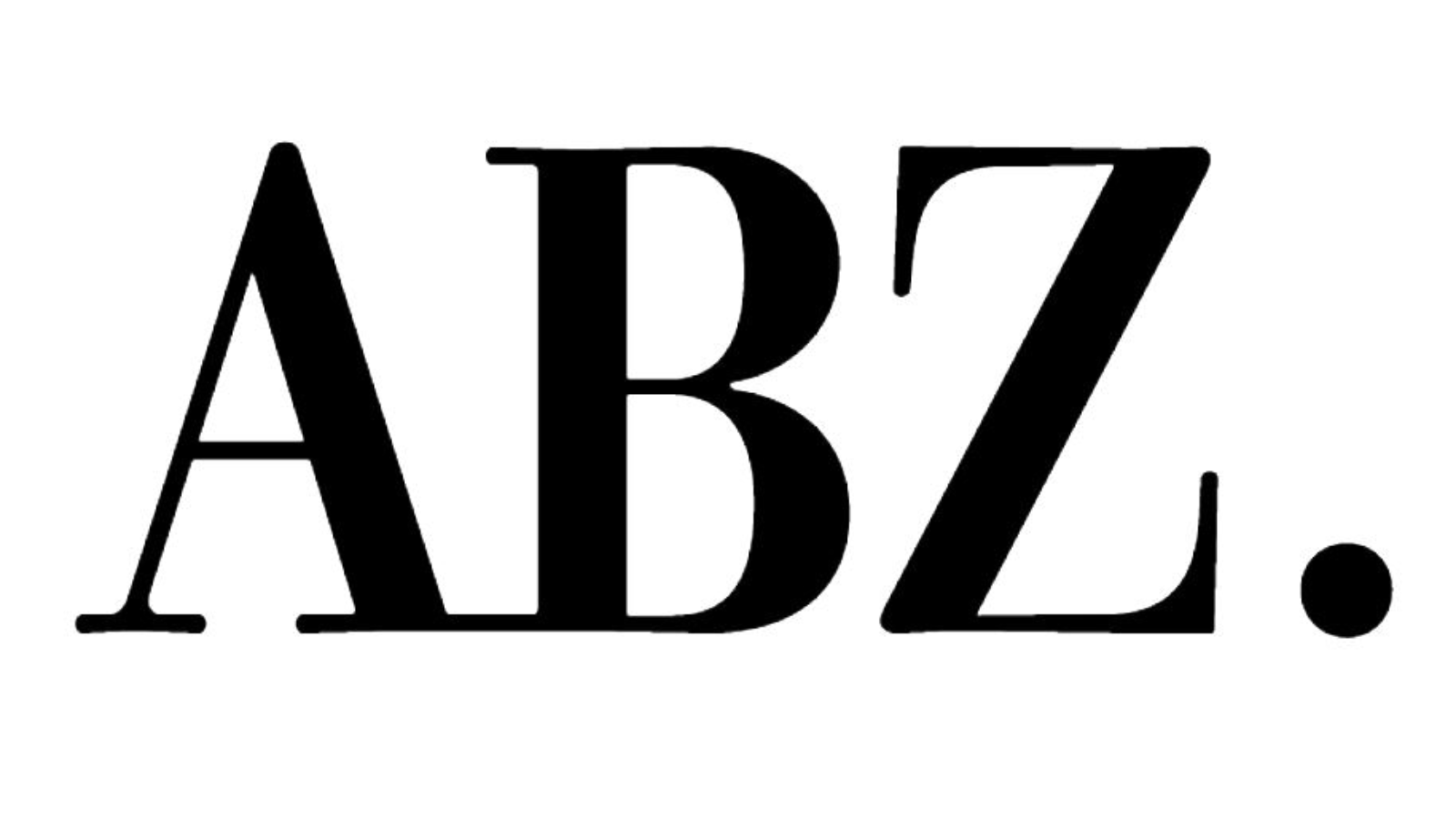 ABZ abbreviated logotype BLACK