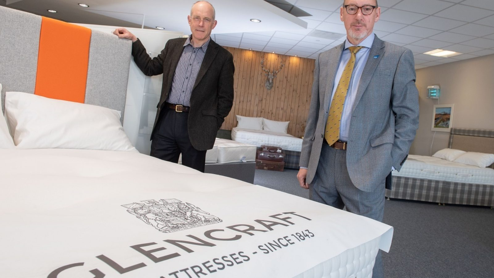 Glencraft acting chairman Jonathan Smith and Glencraft managing director Graham McWilliam at the charity's Aberdeen showroom