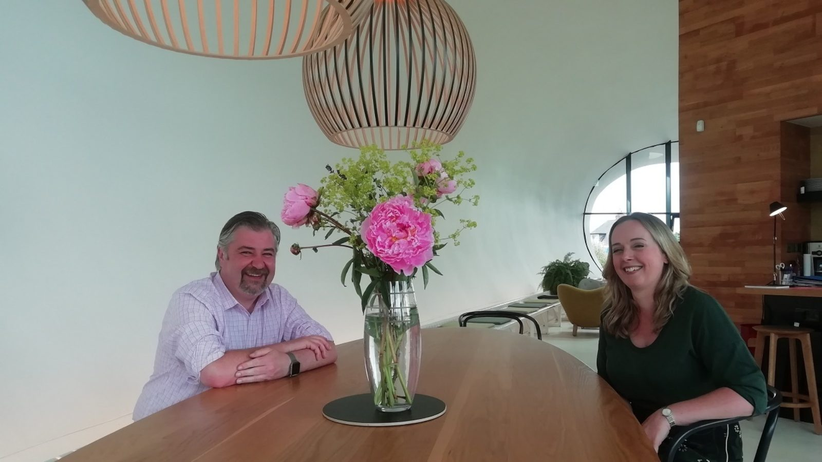 Maggie's Aberdeen centre head Kevin Mathieson and clinical psychologist Jenny Makinson