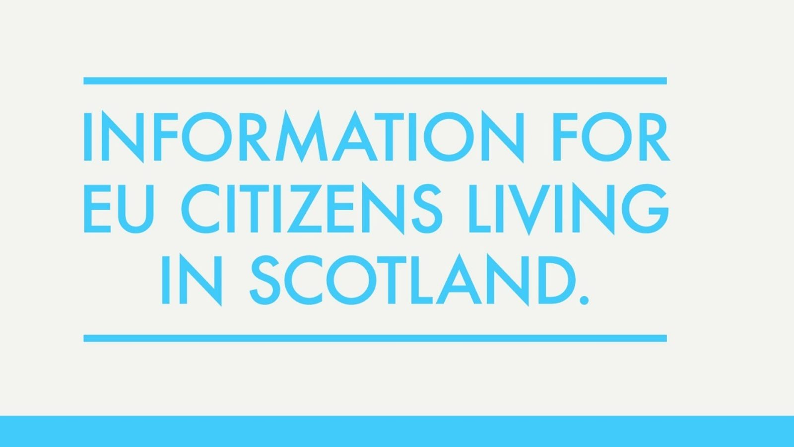 Stay in Scotland toolkit launched to help guide people on how to apply to the EU Settlement Scheme