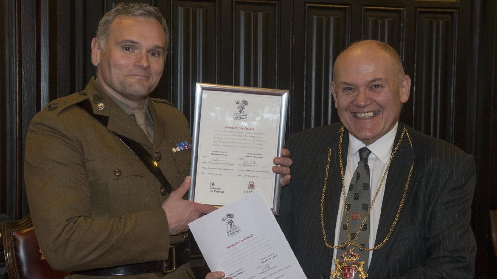 Council receives Gold Award in Defence Employer Recognition Scheme