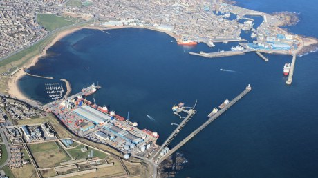 Aerial view of the port looking South