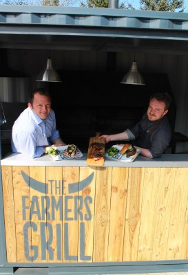 Owner of The Sore, Andrew Booth, and head chef Tim Spooner at the new Farmer's Grill