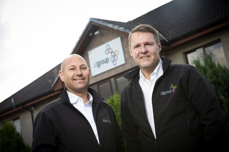 L - R: Richard Dodunski and Mike Fergusson at XL Group HQ