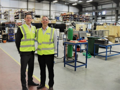 L - R: Mark Fraser, chief executive and Brian Wallace, door services manager