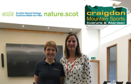 Mary Bruce, director of Group and Corporate Sales, Craigdon Mountain Sports (Inverurie) Ltd with Marian Brown, procurement manager, Scottish Natural Heritage