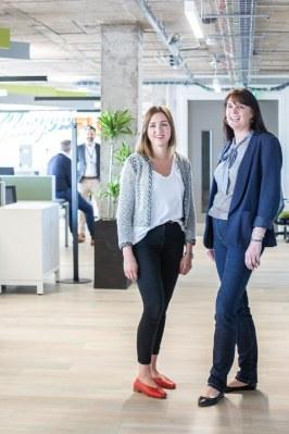 Amy Burnett, enterprise manager, KPMG and Catherine Burnet, senior partner, Scotland, KPMG