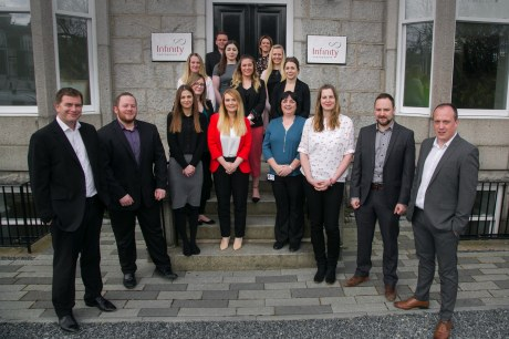 Team success - Infinity Partnership at the firm's Carden Place office