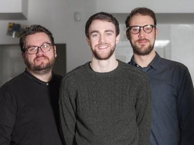Mark Kemp (left), Ross Thomson and Sam Longmire