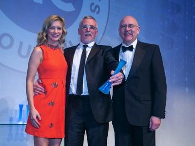 OAA Host, Rachel Riley; Exceed managing director, Ian Mills; and EIC CEO Stuart Broadley