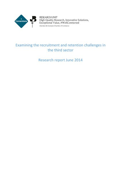 Third sector recruitment challenges 2014