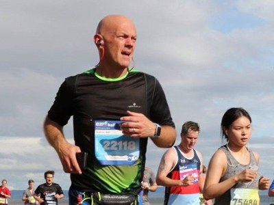 Accountant Andy adds up the miles in London Marathon challenge as thank-you to MS Society