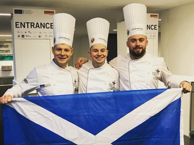 Entier chefs form part of Culinary World Cup Scottish medal winning team