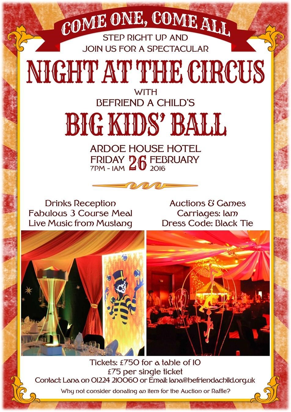 A Night At The Circus For Befriend A Child S Big Kids Ball